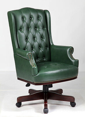 £275 • Buy Managers Directors Chesterfield Antique Style Captains Leather Office Desk Chair