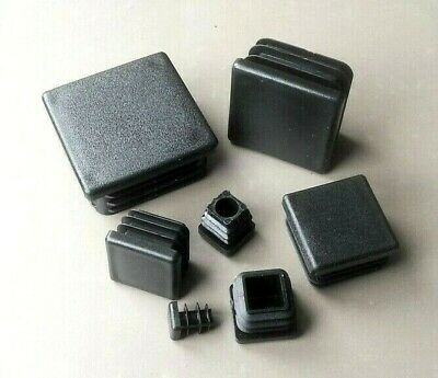 Square Plastic End Caps Blanking Plugs  Tube/ Box Section Inserts  /Black  • 2.45£