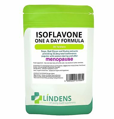 Soya Isoflavone Red Clover 30 Tablets Soy Isoflavones Kudzu Extract Safe Natural • 6.16£