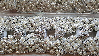 £11.98 • Buy Joblot 12pcs White Pearl Bow Design Sparkly Hairclips Hairgrips NEW Wholesale