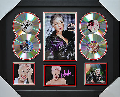 AU93.50 • Buy PINK MEMORABILIA 4cd  FRAMED SIGNED LIMITED EDITION .
