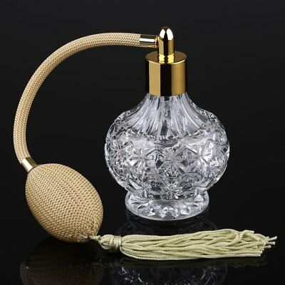 Vintage Crystal Perfume Atomizer Fragrance Spray Glass Bottles Lady Gift 80ml • 6.97£