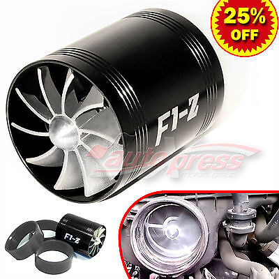 $19.86 • Buy For FORD Supercharger COLD AIR INTAKE TURBO DUAL Gas Fuel Saver Fan BK 2.5-3.0