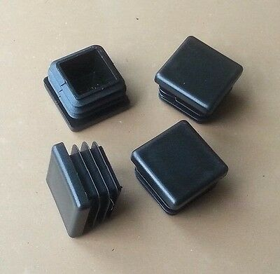 £1.97 • Buy 25x25mm Square Plastic End Caps Blanking Plugs Tube Box Section Inserts / Black