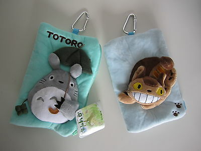 Totoro Cat Bus Plush Phone Bags Coin Purses ID Wallets Pouch Pencil Cases  • 7.99£