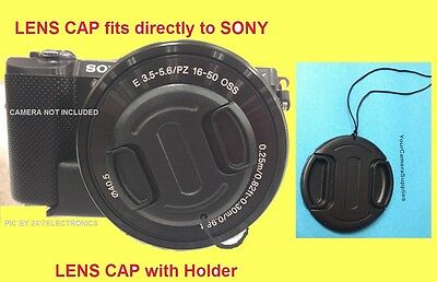 $ CDN13.32 • Buy FRONT SNAP-ON LENS CAP To CAMERA SONY ALPHA A6000 A6100 +HOLDER, ALFA /16-50mm