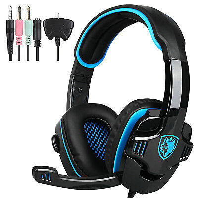 AU31.39 • Buy USB Gaming Headset With Microphone PC Laptop Noise Cancelling Gaming Headphones