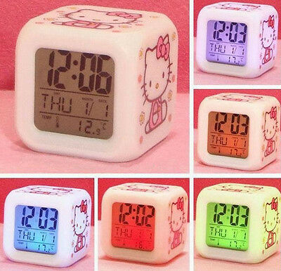 AU15.99 • Buy 7 LED Colour Digital ALARM CLOCK GIFTS FOR Nursery Children KIDS