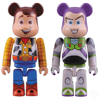 $220.32 • Buy Medicom Toy Be@brick 100% Toy Story 3 Buzz Lightyear & Woody Bearbrick Set