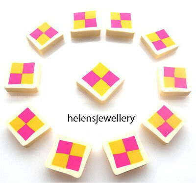 10 Battenburgs Flatback Kitch Cabochons Kawaii Decoden - Fast Shipping • 3.99£