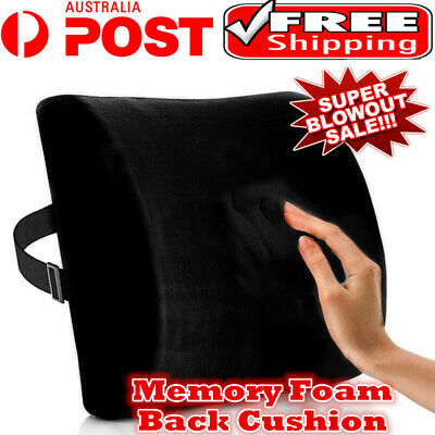AU20.22 • Buy Memory Foam Lumbar Back Pillow Support Back Cushion Home Office Car Seat Chair