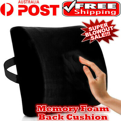 AU19.22 • Buy Memory Foam Lumbar Back Pillow Support Back Cushion Home Office Car Seat Chair