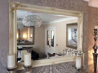 £99.99 • Buy EXTRA LARGE CREAM WALL MIRROR - SAVE ££'s - INSURED IN TRANSIT