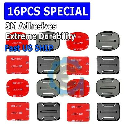 $ CDN4.95 • Buy 16 Pcs Helmet Accessories Flat Curved Adhesive Mount For Gopro Hero 3 3+ 4 5 6 7