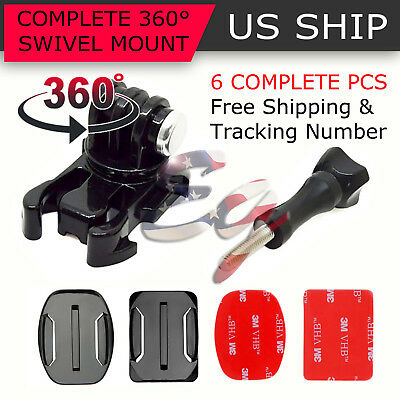 $ CDN7.55 • Buy 360° Rotating Swivel Helmet Surface Mount For GoPro Hero 1 2 3 3+ 4 Accessories