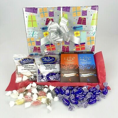 Sugar Free Sweets Chocolate Hamper Birthday Diabetic No Added Sugar Christmas  • 12.99£