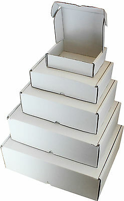 White Boxes C5 A5 C4 A4 C3 A3 Shipping Packaging Cardboard Carton Gift Parcel • 8.95£