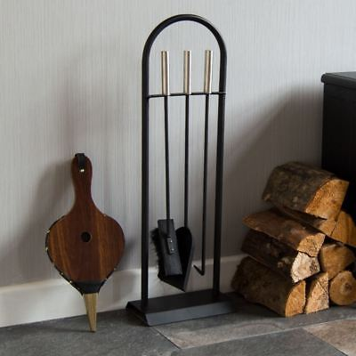 £16.94 • Buy 4 Piece Arc Fire Companion Set Fireplace Fireside Tools Modern By Home Discount