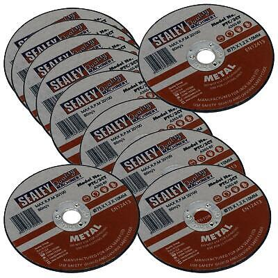 £10.45 • Buy Sealey 10 Pack Metal Stainless Steel Cutting Discs 75mm X 1.2mm Angle Grinder