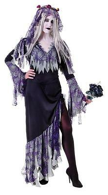 ZOMBIE Corpse Bride Ladies Halloween Ghost Fancy Dress Adult Size [One Size] • 17.99£