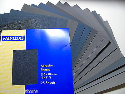 Wet And Dry Abrasive Sandpaper Silicon Carbide Sheets Mixed Grits P 60 To 2500  • 3.70£