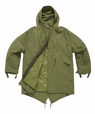 $110.38 • Buy M51 Vintage Retro Fishtail Parka With Quilted Liner Sizes XS-3XL Black OD Green
