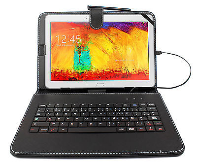 AZERTY Case Cover With Keyboard For Samsung Galaxy Note 10.1 & Tab 4 10.1  • 15.99£