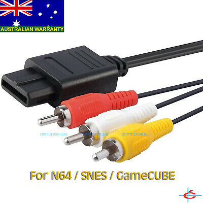 AU7.20 • Buy Audio & Video Cord AV RCA Cable For Nintendo 64 SNES GameCube To TV - 1.8 Meters