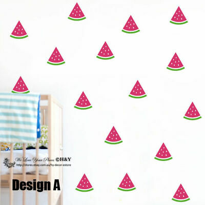 Set Of 36 Pcs Watermelon Removable Wall Stickers Baby Kids Cot Decor Art Mural • 12.26£