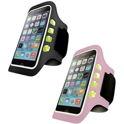 IPhone 6/6S LED Flashing Light Sports Gym Armband Running Case Jogging Cover • 7.99£