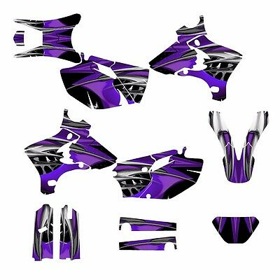$164 • Buy 2003 2004 WR250F WR450F Graphics Decal Kit #4444 Purple Tribal