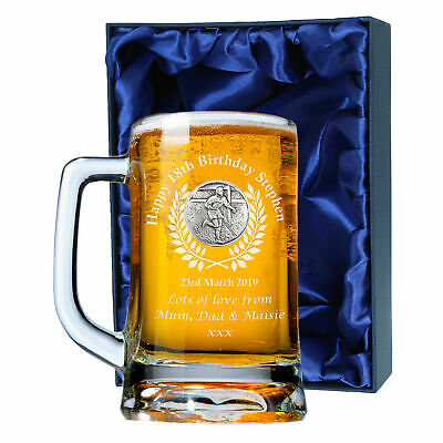 Rugby Player Birthday Gift Engraved Tankard 18th 21st Lager Ale Glass Beer Mug • 24.99£