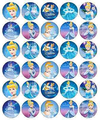 £3.99 • Buy 30x Cinderella Disney Princess Cupcake Toppers Edible Wafer Fairy Cake Toppers