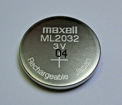 AU5.43 • Buy Maxell ML2032 2032 Rechargeable Coin Cell Battery 3V Japan Manufactured Apr 2020