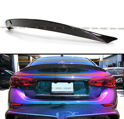 $129.99 • Buy Fits For 2014-2020 Infiniti Q50 Q50s Vip O-type Carbon Fiber Trunk Spoiler Wing