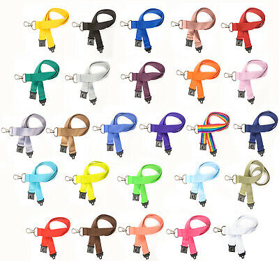 Lanyard Neck Strap For ID Card Holder Safety Break Away - Choose Colour | 20mm • 2.29£