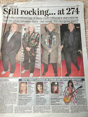 Noddy Holder Slade Jimmy Page Photo News Article 2015 • 5.99£