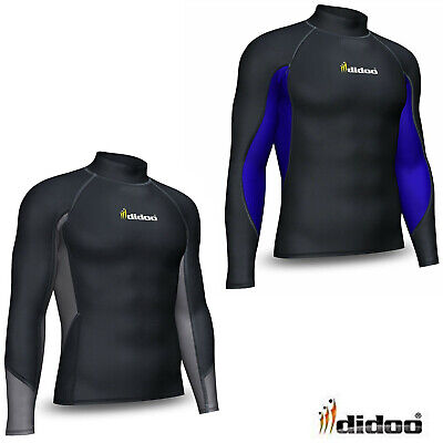 Mens Thermal Base Layer Compression Top Long Sleeve Body Armour Cold Wear Shirt • 13.99£