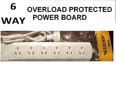 AU4.95 • Buy New 6 Way Overload Protected Power Board - 6 Outlets