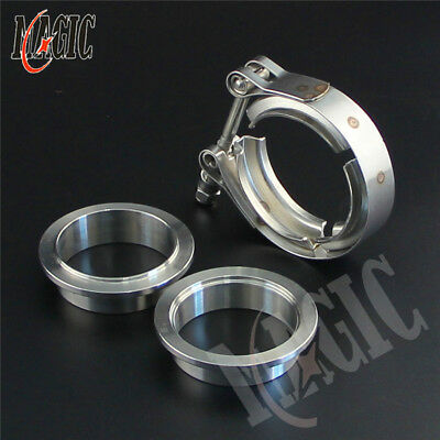 $ CDN25.45 • Buy 2  51mm V-Band Vband Clamp CNC Stainless Steel Flange Flanges Turbo Downpipes