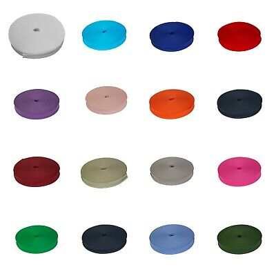 Cotton Bias Binding Tape 1  1/2  Inch 25MM 13MM Craft Various Colours Full Reel • 4.99£