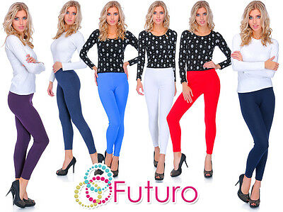£4.99 • Buy Thick Warm Classic Plain Cotton Full Length Leggings All Colours And Sizes UK