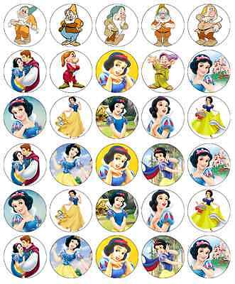 £1.85 • Buy 30x Snow White Disney Princess Cupcake Toppers Edible Wafer Fairy Cake Toppers