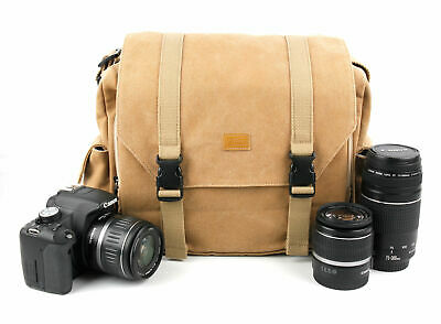 Brown Canvas Shoulder Bag / Carry Case For Nikon Coolpix P900 / P950 / P1000 • 24.99£