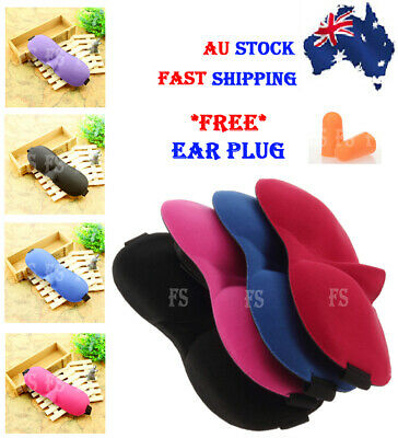 AU4.25 • Buy Travel Sleep Eye Mask 3d Sleeping Sleep Cover Nap Rest Blindfold *aus Stock*