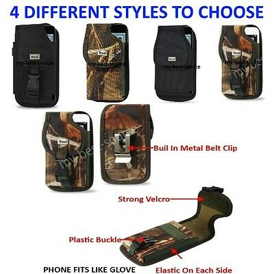 $11.95 • Buy Commercial Grade Case With Metal Belt Clip Cover Holster Pouch For Smart Phones