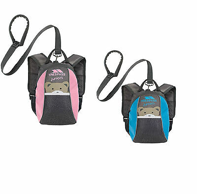 Trespass Mini Me Toddler Kids Safety Backpack Rucksack With Detatchable Reins • 8.99£