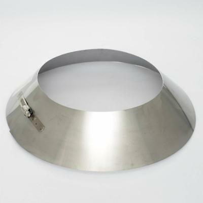 New Aluminium Storm Collar 150mm 6  Chimney Flue Cravat Twin Wall • 27.99£