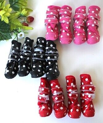 £10.75 • Buy Waterproof Rain Snow Puppy Dog Shoes Boots Booties High Rubber For SMALL Pet