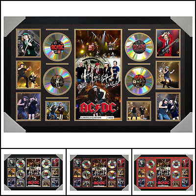 AU187 • Buy ACDC 4 CD Signed Framed Memorabilia LTD - Large - Multiple Variations - V1